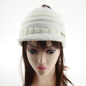 1 Piece Damen Pferdeschwanz Mütze Farbe Weiß