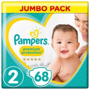 Pampers Premium Protection New Baby Gr.2 Mini 4-8kg Jumbopack, 68 Stück