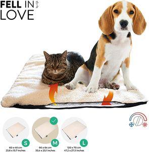 riijk Selbstheizende Decke für Katzen & Hunde, Heizdecke waschbar, Wärmematte für Katzen raschelfrei, Katzendecke - Größe:M