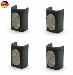 4x Klemmschalengleiter Filzgleiter 16mm - 17mm Filz Stuhlbeinkappen Fußstopfen Möbel stuhl