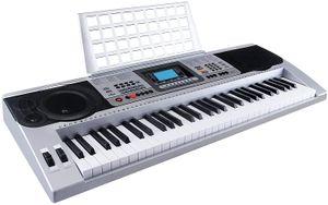 61 Tasten Keyboard Klavier musikalisches digitales elekronisches Klavier elektronische Orgel tragbar Weiß Silber MK-810