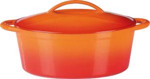 Gusseisen Bräter oval Orange Shadow 33 x 25cm