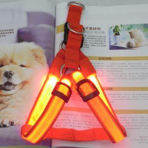 LED Licht Haustier Brustgurt Hundegurt blinkend Haustier Brustgurt leuchtender Hund mit Traktion Brust Rue  ckenfleck rot XL-Code