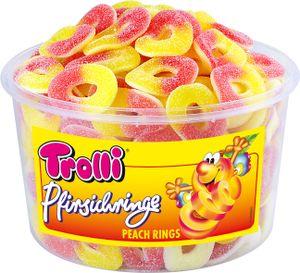 Trolli Pfirsichringe Fruchtgummi Schaumgummi wiederverschließbar 1200g