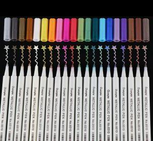 20 Farben Acrylstifte Lackstift DIY für Steine Bemalen Permanent Wasserfest Metallic Marker Wasserfest Permanent Kartenherstellung Papier