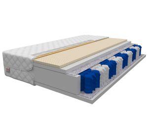 Matratze 140x200 cm ARGON Höhe ca. 18 cm H2 H3 Latex Premium Taschenfederkern 9 ZONEN