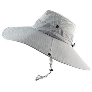 Männer Bucket Hat Breathable Quick Dry Frauen Boonie Hut-Sommer-UV-Schutzkappe -(Grau,)
