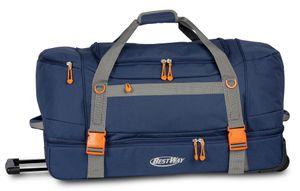Bestway reisetasche mit Rollen 105 Liter 75 cm Polyester blau
