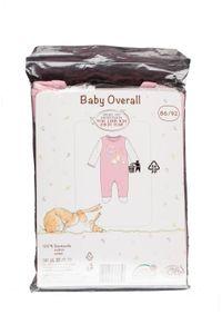 """Baby Overall Strampler Schlafanzug """" weißt du eigentlich wie lieb ich dich habe """" Rosa, Gr. 86/92"""