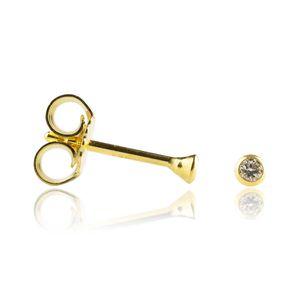 Kelchohrstecker Ohrringe Diamanten 585er Gelbgold mit Brillianten 0,07ct
