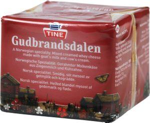 Gudbrandsdalen Käse 250g Tine Brunost Gjetost Molkenkäse Norwegenkäse Braunkäse