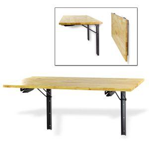 Universal Holz Eukalyptus Klapptisch Tisch Wand klappbar Wandhalter 120x58 cm