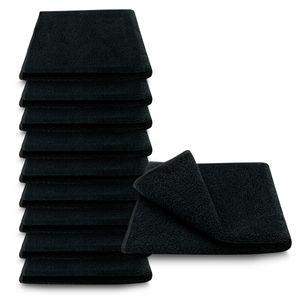 10x ARLI Handtuch schwarz - 100% Baumwolle
