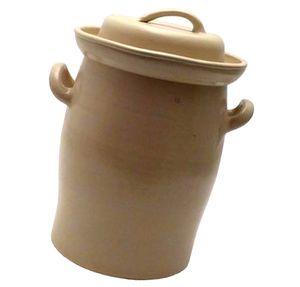 B. ERNING UND SÖHNE Keramik Gärtopf mit Deckel beige Keramik