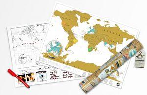 Luckies Rubbel Weltkarte - Scratch Map - Travel Edition für unterwegs
