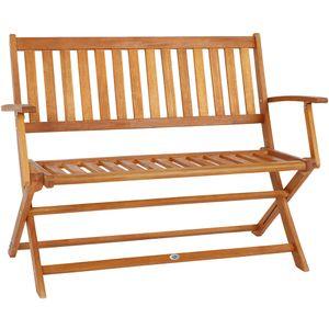 Gartenbank klappbar FSC®-zertifiziertes Eukalyptusholz 2 Sitzer Garten Holz Bank Parkbank Balkonbank Terrasse