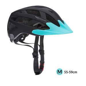 Kinderhelm Fahrradhelm Schutzhelm mit LED Kinder Junior Fahrrad Helm   Spielwerk, Farbe/Größe:Schwarz-Blau M