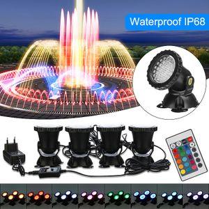 RGB LED Unterwasserscheinwerfer Teichbeleuchtung Fountain Garten Strahler Lampe