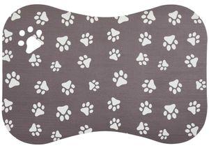 Napfunterlage Hund Katze Pfoten Braun Futtermatte 40 x 60 cm Fressnapf Unterlage 6 Motive