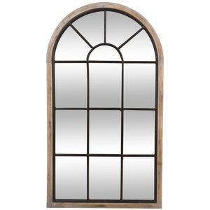 Große Spiegelfensterwand, Wandspiegel, dekorativer Spiegel, rustikaler Spiegel