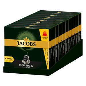 JACOBS Kapseln Espresso 12 Ristretto 10 x 20+2 Nespresso®* kompatible Kaffeekapseln