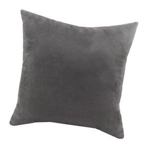 Soft Velvet Kissenbezug Solid Color Dekokissen Fall Grau-60x60cm Farbe Grau-60x60cm