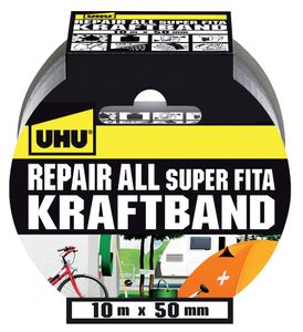 UHU Repair All Kraftband, extrastarkes Gewebeband, 10 m x 50 mm