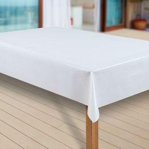 Wachstuch-Tischdecke Wachstischdecke Tischwäsche Abwaschbar Wachstuchdecke  80 , Muster:Elligent Glitter Weiss, Größe:100x100 cm