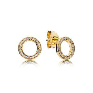 Pandora Shine 267112CZ Ohrstecker Earring Studs Forever Silber Gold