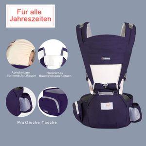 Babytragen, für Kinder von 0-4 Jahren, Ergonomisches Design  für alle Jahreszeiten, Dunkelblau