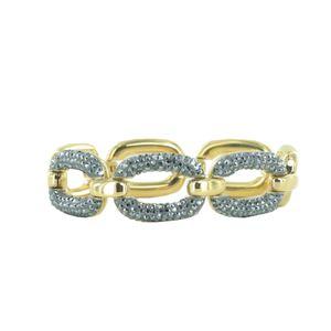 Joop Damen Armband Armkette Edelstahl Gold OVALLY JPBR10641B180