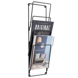 Zeitungsständer   schwarzer Stahl 60 cm hoch