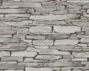 A.S. Création Tapete Authentic Walls beige grau schwarz 10,05 m x 0,53 m 943118
