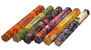 HEM Räucherstäbchen Sparset. 6 verschiedene Packungen ca. 120 Sticks