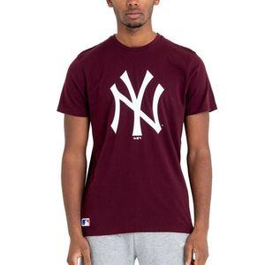 New Era - MLB New York Yankees Team Logo T-Shirt - Weinrot : S Weinrot Farbe: Weinrot Größe: S