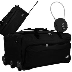 XXL 150L Trolleytasche Reisetasche schwarz inkl. Zahlenschloss