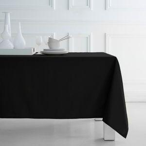 Tischdecke Schwarz 140x240cm 100% Baumwolle
