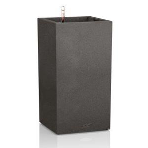 LECHUZA Canto Stone 40 high, Pflanzgefäß, Freistehend, Polypropylen (PP), Schwarz, Graphit, Indoor/Outdoor, Rechteck