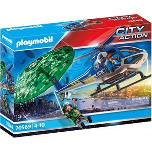 PLAYMOBIL 70569 Polizei-Hubschrauber: Fallschirm-Verfolgung
