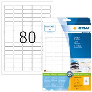 Etiketten Premium A4, weiß 35,6x16,9 mm Papier matt 2000 St.