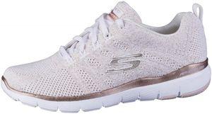SKECHERS Flex-Appeal 3.0 Damen Sneakers white, Strickmaterial, Air Cooled Memory Foam Fußbett