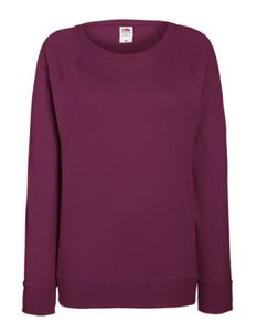 Lady-Fit Lightweight Raglan Sweatshirt / Pullover - Farbe: Burgundy - Größe: M