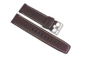 Timex Ersatzband Uhrenarmband Leder Band Wasserfest Braun 22mm für T2P287 auch T2N725, T2N726