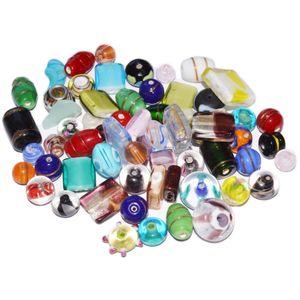Lampenperlen Bunt-Mix - Glasperlen handgemacht, 150g (ca. 70 Stück)