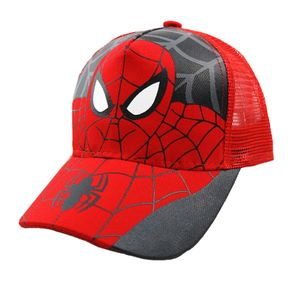 1x Basecap Spiderman Kappe Baseball 48-53cm Cap Hut Snapback Mütze Hüte für Kinder Jungen Mädchen Mesh Rot