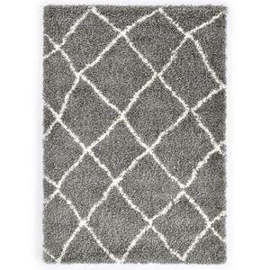 dereoir Berberteppich Hochflor PP Grau und Beige 160 × 230 cm