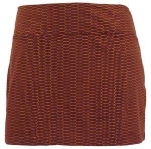 Minirock aus Baumwolle, Hüftschmeichler, Organic Yoga Rock - Rostorange, Damen, Rot, Baumwolle(Bio),Elasthan, Größe: S/M