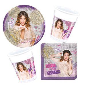 36-teiliges Party Set - Disney Violetta Gold