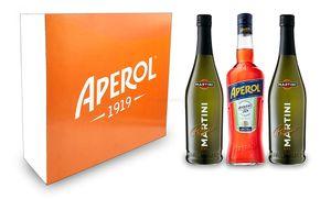Aperol Spritz Geschenkset - Aperol Aperitivo Italiano 1L (11% Vol) + Prosecco 0,7L (10,5% Vol) + Giftbox - [Enthält Sulfite]