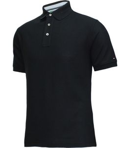 Tommy Hilfiger Golf Herren Kurzarm Pique-Poloshirt TM108 schwarz Grösse M